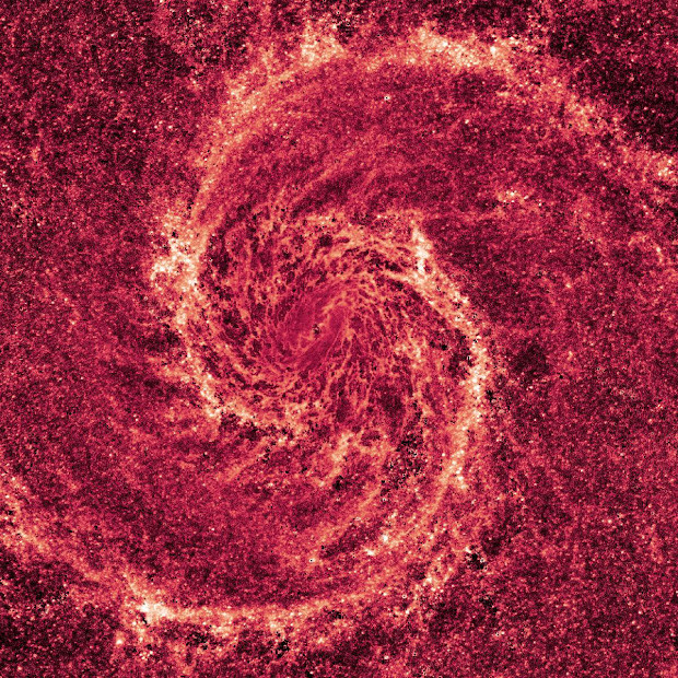 Stunning near-infrared starless image of M51 as seen by Hubble