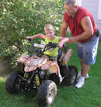 Conrad on his new 4-wheeler