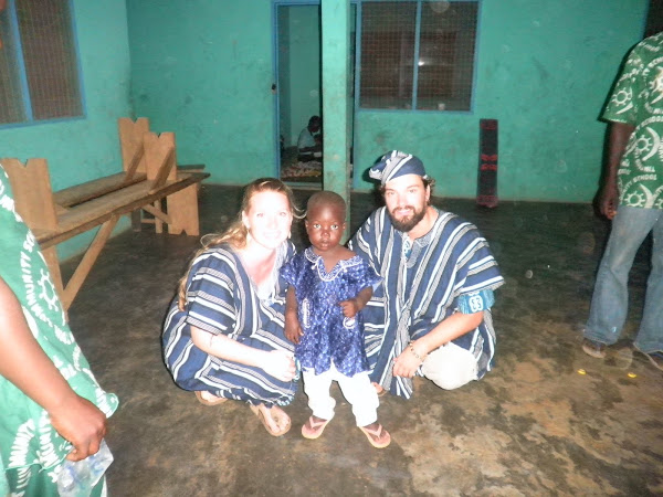 Cameron, me and Alhassan...he loves us, even if you can't tell by his face!