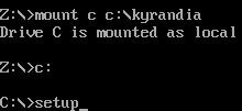 Setup DOS command