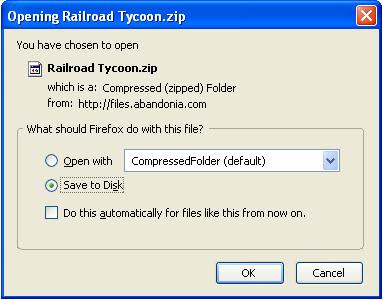 Saving Railroad Tycoon game