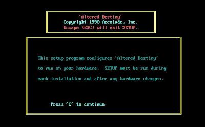 Altered Destiny configuration program
