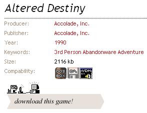 Altered Destiny download button