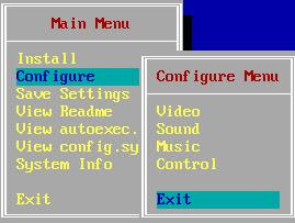 Exiting configuration menu