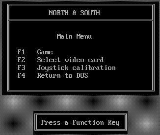 North and South Main Menu