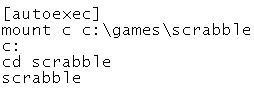 Scrabble autoexec