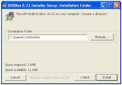 Dosbox PC game installer program