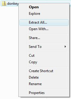 Extracting the zip file
