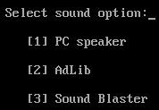 Select the games sound