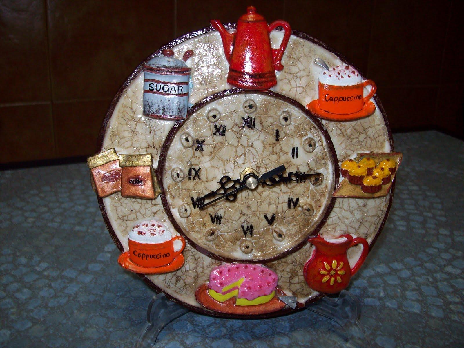 Manualidades artesania y decoraciones reloj con craquel - Artesania y decoracion ...