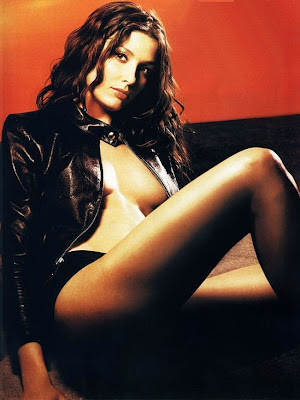 Bridget Moynahan black leather jacket