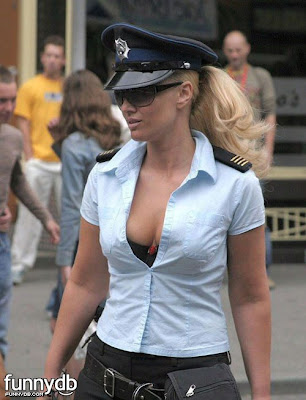Busty police woman