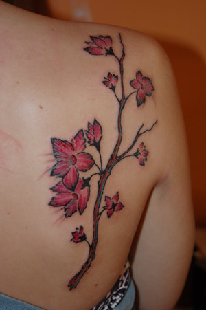 tattoos for girls on shoulder. Placing a tattoo on upper back