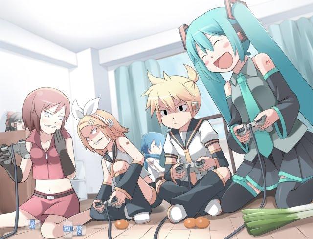 Imagenes de Vocaloid Konachan-com-36308-blonde_hair-blue_hair-brown_hair-console-green_hair-hatsune_miku-headphones-kagamine_rin-kaito-long_hair-meiko-short_hair-touhou-twintails-vocaloid