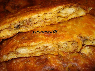 M'ssamen ou Mssamman marocain farci à la viande hachée et vermicelle Yasmina