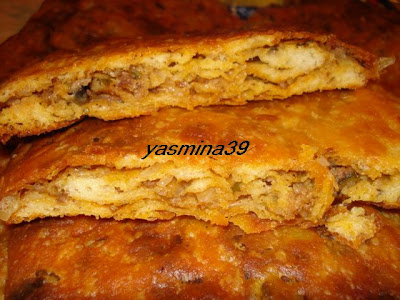 M'ssamen ou Mssamman marocain farci à la viande hachée et vermicelle Yasmina0