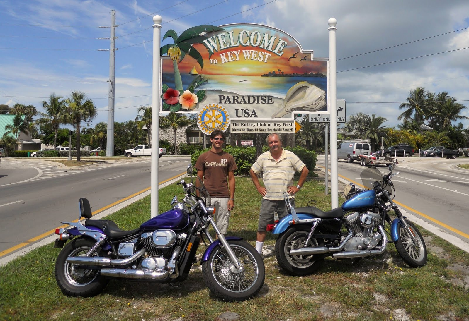 Bob Barbanes Florida End To On Motorcycle Honda Shadow Jacob And I Recently Rode Our Motorcycles From Pensacola Down Key West His Me My Harley Sportster