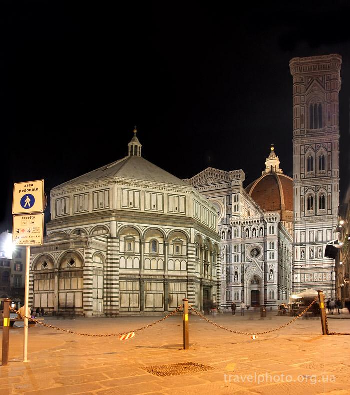 Флоренция, Санта Мария дель Фьоре, ночное фото
