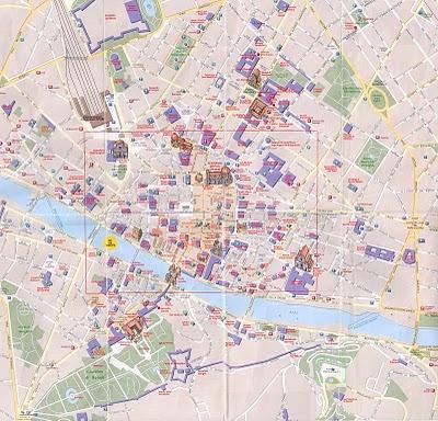 Туристическая карта Флоренции