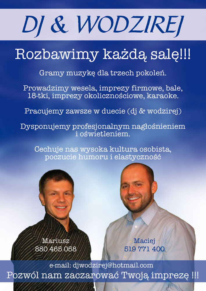 DJ Wodzirej Maciej & Mariusz