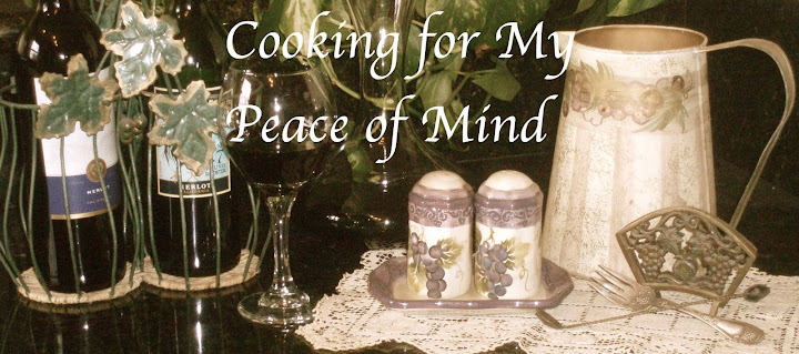Cooking for My Peace of Mind