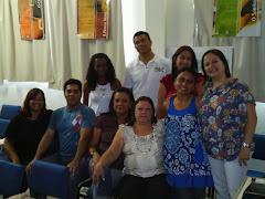 Equipe da Secretaria municipal de saúde de Queimados.