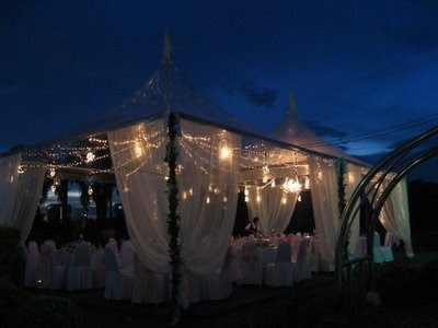 This type canopy mmg sgt cantik kalau deco with fairy lights and kt tgh tu