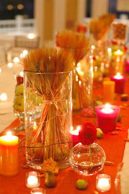 Jenna sais quois nice day for an orange wedding for Orange centerpieces for tables