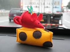 Mouse and cheese pincushion