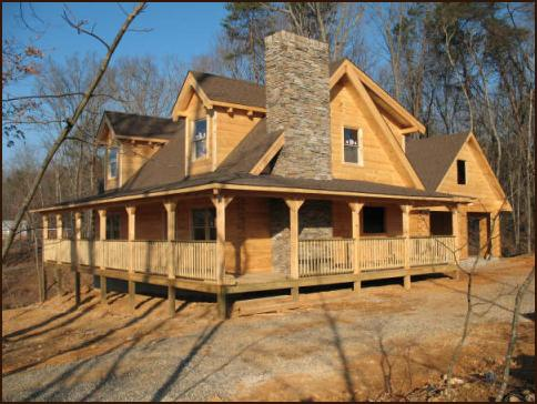 Log Home under construction in Greenback Tn