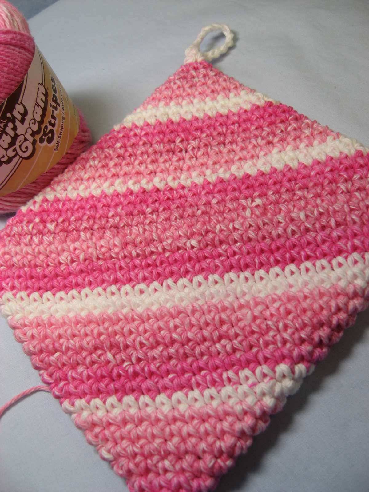 Hooked on Needles: Crocheted Hot Pad/Potholder - Its double thick!