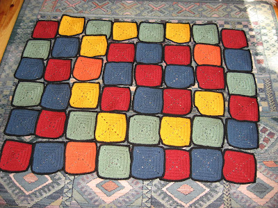 Colorful Granny Afghan