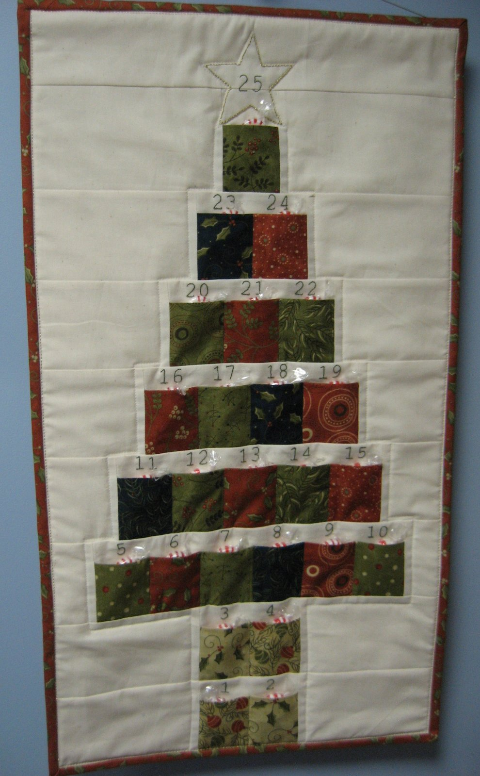 Hooked On Needles Advent Calendar Christmas Tree A Quilted Wall