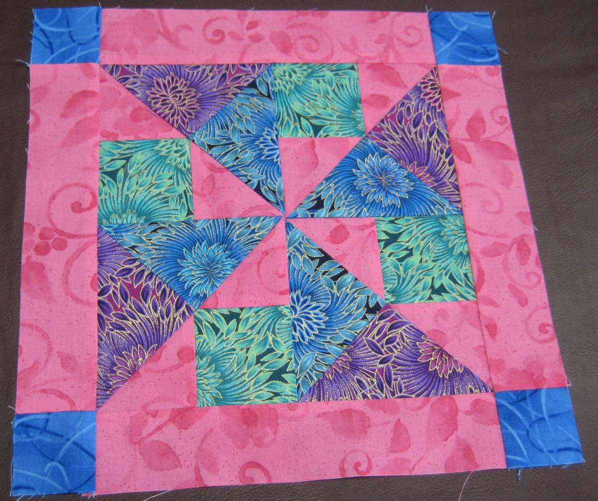 Hooked on Needles: Layer Cake Quilt-Along Block Seven