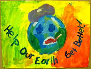 mom go green earth day posters