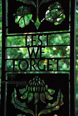 Sandakan War Memorial Park Sabah Borneo