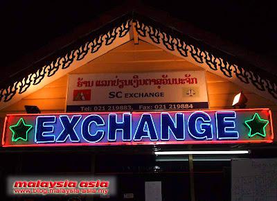 money changer in vientiane