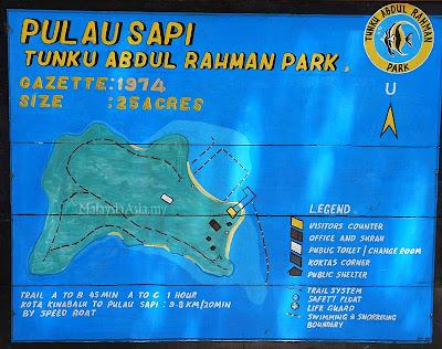 Sapi Island Map