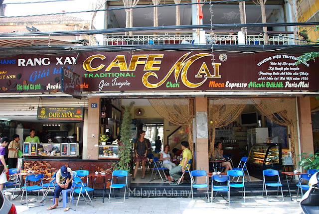 Cafe Mai in Hanoi, Vietnam