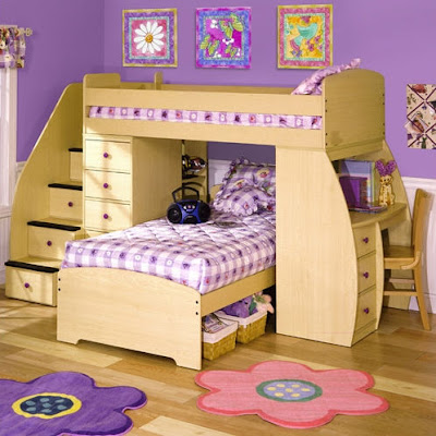unique luxury children's room bed design