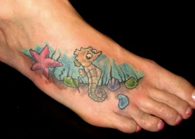 Sea horse tattoo designs picture