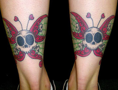 butterfly tattoos - tattoo designs and. butterfly bull skull tattoos