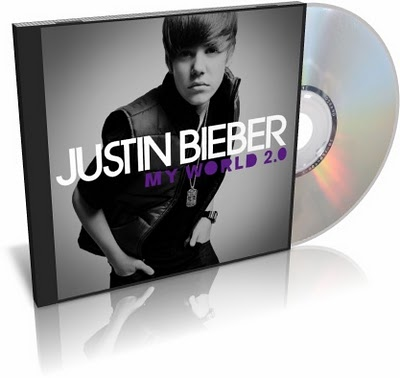 justin bieber cd case. justin bieber cd my world.