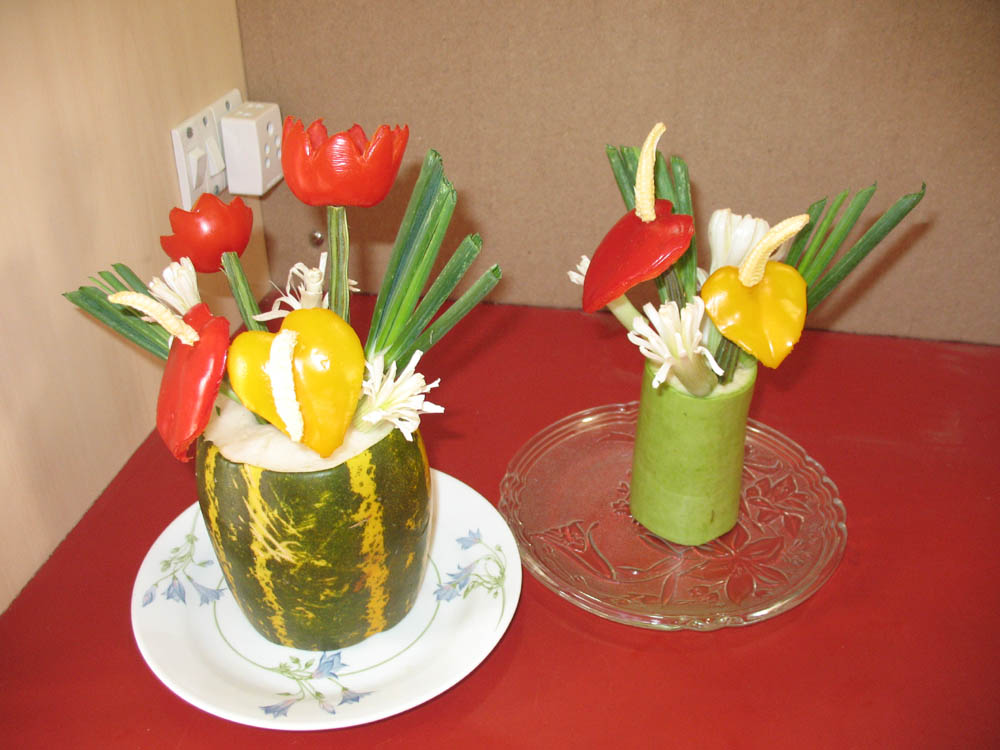 Salad decoration images pictures and photos salad for Decoration salade