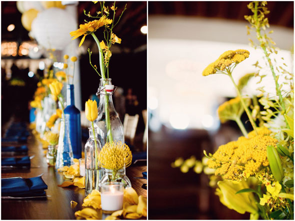 A Chic Yellow Navy Wedding