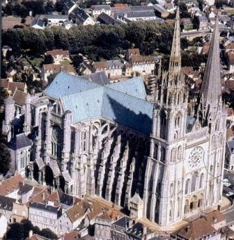 ¿Que te parecen la arquitectura gotica en la edad media? Catedral+Chartres