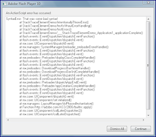 how to use stack trace uml