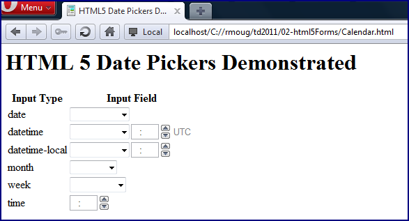 how to use datepicker in html