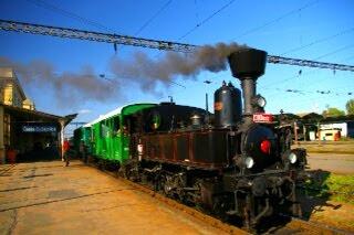 ブジェヨヴィツェ駅の蒸気機関車