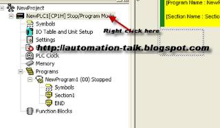 OMRON PLC programmer setting